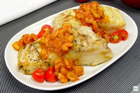 Bacalhau com molho de camarão