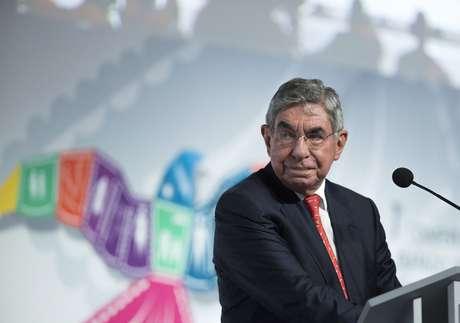 Ex-presidente da Costa Rica e ganhador do Nobel da Paz, Óscar Arias 24/08/2015 REUTERS/Victor Ruiz Garcia