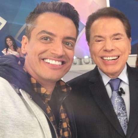 Léo Dias ao lado de Silvio Santos, é a segunda vez que apresentador se afasta da emissora para tratar de vício