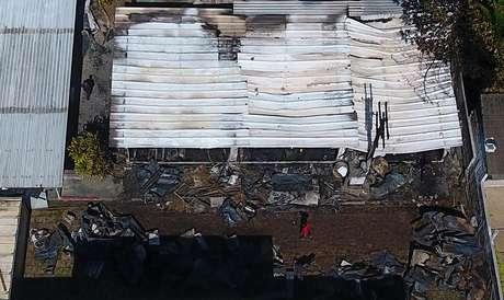 Incêndio deixou dez mortos e três pessoas feridas, uma delas em estado grave, no Centro de Treinamento do Flamengo, em Vargem Grande, Zona Oeste do Rio de Janeiro, na madrugada desta sexta-feira (08/02/2019)