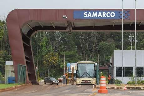 Portaria da mineradora Samarco na cidade de Mariana (MG).