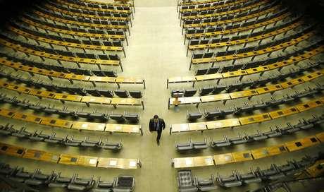 Vista do plenário da Câmara dos Deputados, em Brasília