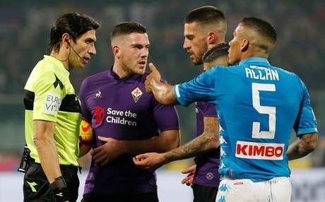 Fiorentina e Napoli ficaram no 0 a 0 neste sábado (9)