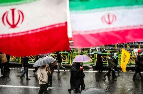 Cerimônia de comemoraçào do 40º aniversário da Revolução Islâmica do Irã 11/02/2019 Vahid Ahmadi/Tasnim News Agency/via REUTERS