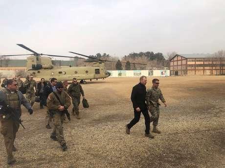 Secretário de Defesa interino dos EUA, Patrick Shanahan, chega a Cabul 11/02/2019 REUTERS/Idrees Ali