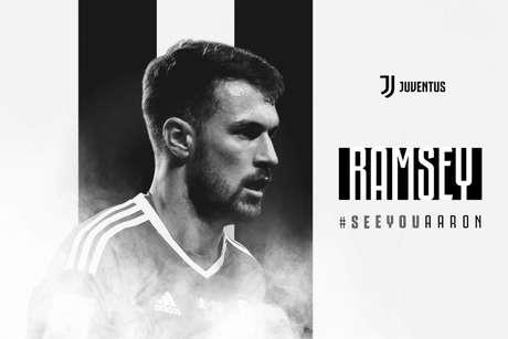 Montagem feita pela Juventus para anunciar o jogador (Foto: Divulgação)