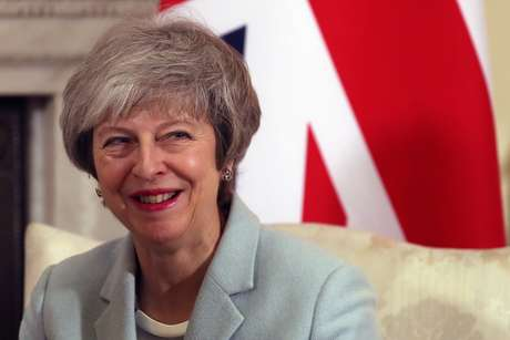 Premiê britânica, Theresa May, na residência oficial de Downing Street 11/02/2019 Daniel Leal-Olivas/Pool via REUTERS