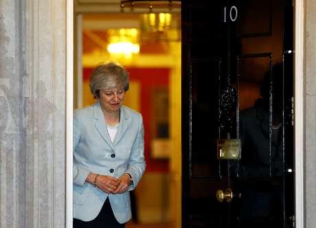 Primeira-ministra britânica, Theresa May, na residência oficial em Londres 11/02/2019 REUTERS/Henry Nicholls