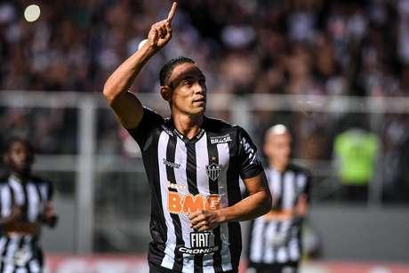 Comemoração do gol de Ricardo Oliveira, do Atlético Mineiro (BRA), em partida contra o Danubio (URU), válida pelo duelo de volta da fase preliminar da Copa Libertadores da América 2019, realizada no Estádio Independência, na cidade de Belo Horizonte (MG), nesta terça- feira (12).