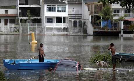 Temporal no Rio de Janeiro provocou alagamentos