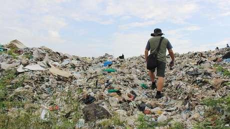 Atualmente 4 mil toneladas de lixo estão concentradas em um único local