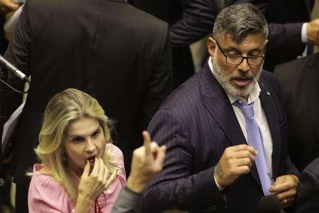 O Deputado Alexandre Frota (PSL-RJ) durante sessão extraordinária deliberativa, no plenário da Câmara dos Deputados, em Brasília (DF), nesta quarta-feira.