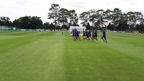 Jogadores do Talleres treinaram na Academia de Futebol ao mesmo tempo que o Palmeiras (Divulgação/Talleres)