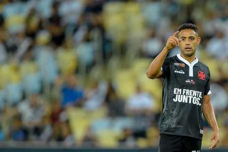 Werley, do Vasco, na partida contra o Resende, válida pelas semifinais da Taça Guanabara, no Estádio do Maracanã, na zona norte do Rio de Janeiro, na noite desta quarta-feira (13).