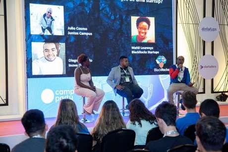 Campus Party recebe palestra sobre os desafios para a construção de uma startup, com a fundadora e CEO do BlackRocks Startups, Maitê Lourenço. A iniciativa incentiva a população negra a acessar o ecossistema de startups