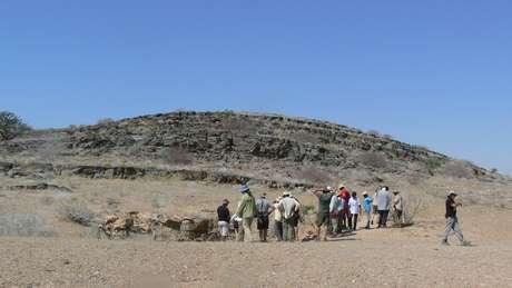 Formações rochosas na Namíbia deram as pistas para que cientistas concluíssem que por ali passavam blocos de gelo em alta velocidade, em direção ao Brasil