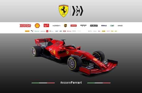 Ferrari apresenta SF90 vermelho e preto fosco para a temporada 2019 da F1
