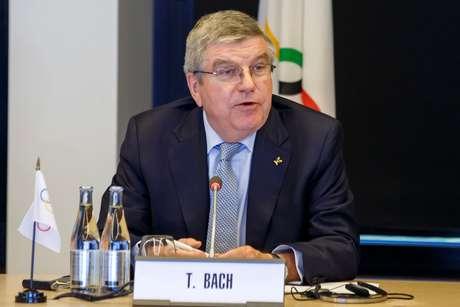 O presidente do COI, Thomas Bach, em Lausanne