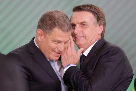 Gustavo Bebianno e Jair Bolsonaro, quando ainda eram aliados