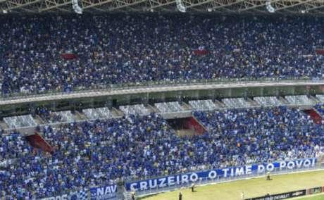Torcida da Raposa já garantiu seu lugar no clássico diante do América-MG- Divulgação/Cruzeiro