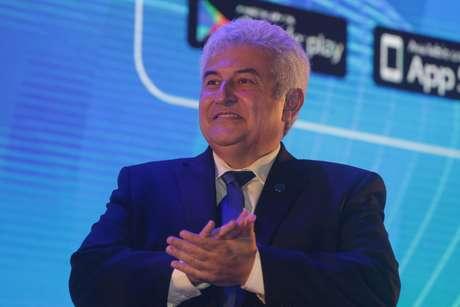 O ministro da Ciência, Tecnologia, Inovações e Comunicações, Marcos Pontes, durante palestra na Campus Party Brasil 2019, feira de tecnologia que acontece no Expo Center Norte, na zona norte da capital paulista, nesta sexta-feira (15).