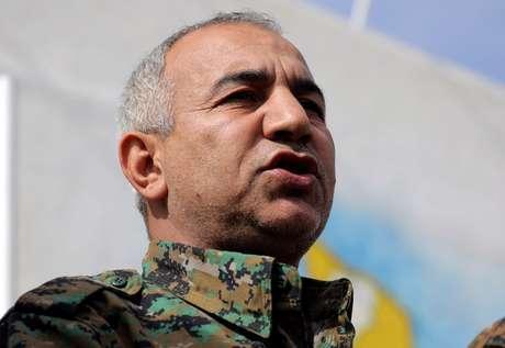 Jiya Furat, comandanten da força militar de combate ao Estado Islâmico, na Síria. 16/2/2019. REUTERS/Rodi Said -
