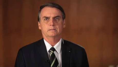 O presidente Jair Bolsonaro, durante vídeo com pronunciamento sobre a demissão do ex-ministro da Secretaria-Geral da Presidência,Gustavo Bebianno
