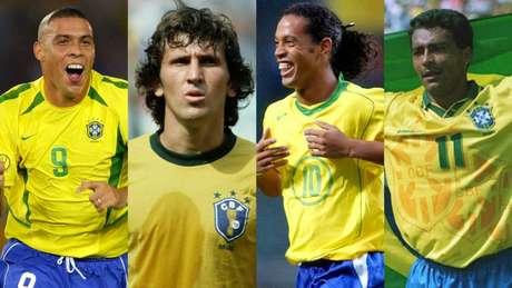 Ronaldo, Zico, Ronaldinho Gaúcho e Romário foram mais avaliados pela torcida brasileira do que Neymar