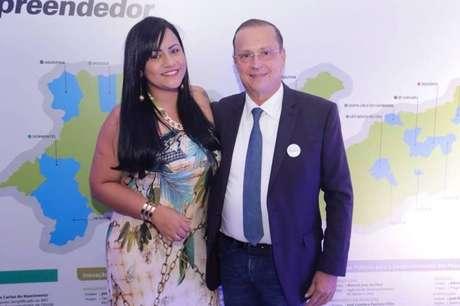 Taty Dantas e o prefeito Meira