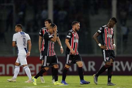 São Paulo já passou um vexame na temporada, sendo eliminado da Copa Libertadores pelo Talleres, da Argentina (Foto: Diego Lima/AFP)