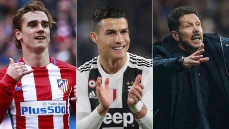 Cristiano Ronaldo tem retrospecto positivo contra Atlético, de Simeone (Foto: AFP)