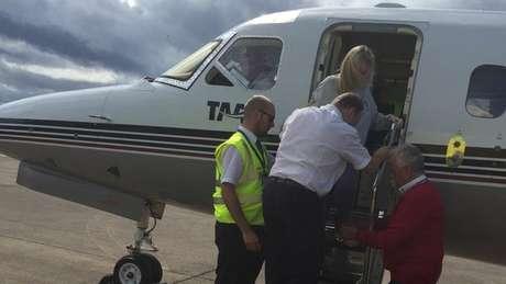 Hannah passou três semanas num hospital da Grécia antes de retornar ao Reino Unido