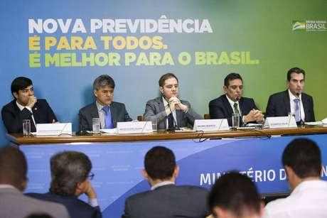 Técnicos do Ministério da Economia concederam entrevista coletiva para explicar pontos da proposta de reforma da Previdência.