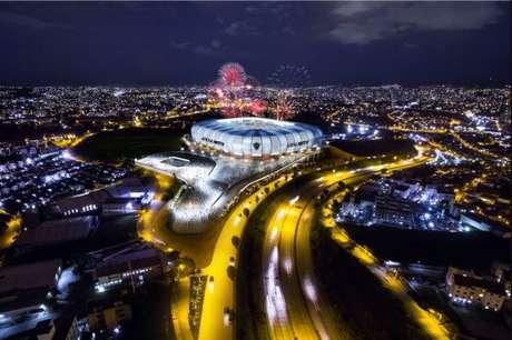 As obras do estádio do Galo teriam início em agosto de 2018, mas o clube não conseguiu as liberações para começar as obras-Foto: Divulgação MRV/Atlético-MG