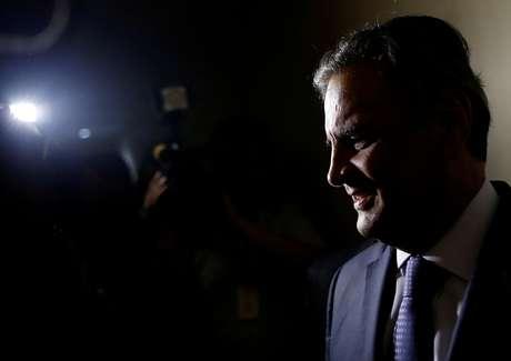 O ex-senador, ex-candidato à Presidência e ex-protagonista da política nacional Aécio Neves, quando ainda ocupava cargo na Casa Alta