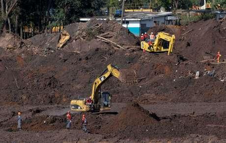Resquícios do colapso de barragem da Vale em Brumadinho, MG 10/02/2019 REUTERS/Washington Alves