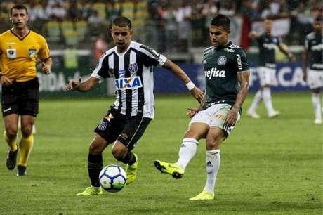 Último confronto: Palmeiras 3 x 2 Santos - Brasileiro de 2018 - 3/11/2018 (Foto: Rodrigo Gazzanel/RM Sports)