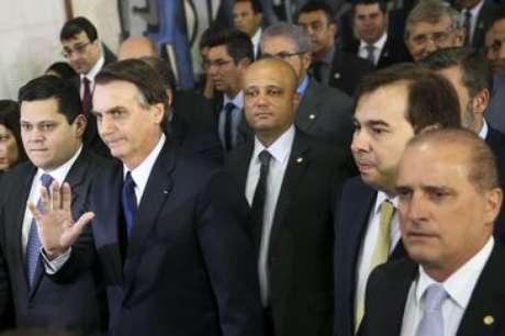 Presidente Jair Bolsonaro chega ao Congresso NacionalBolsonaro