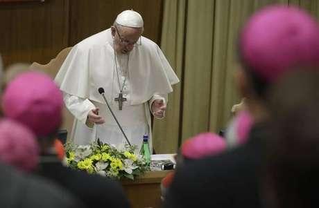 Papa Francisco durante cúpula sobre abusos sexuais no Vaticano