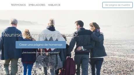 O InMemori é um serviço gratuito pelo qual é possível compartilhar mensagens de pêsames ou recordações e fotos da pessoa falecida