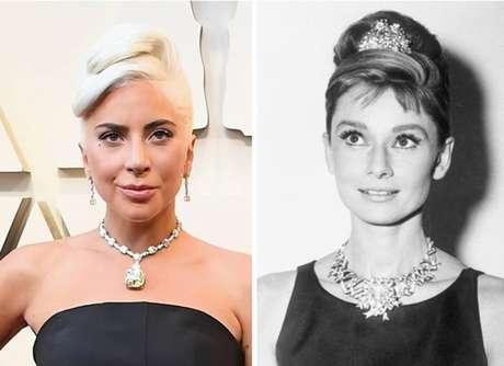 Lady Gagafoi a primeira a levar o diamante para o tapete vermelho; peça tinha sido usada pela última vez em 1961 por Audrey Hepburn