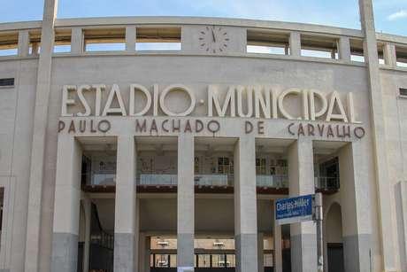 Vista do Estádio do Pacaembu em São Paulo (SP)