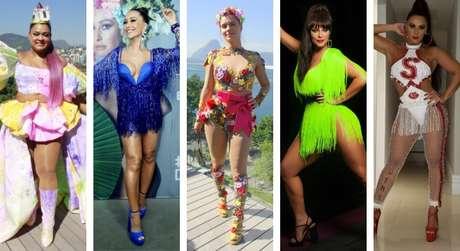 Looks das famosas no pré-Carnaval (Fotos: AgNews - Instagram/Reprodução)
