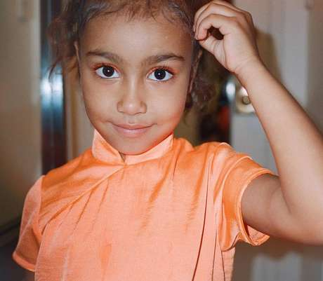 North, de cinco anos, primeira filha de Kim Kardashian e Kanye West.