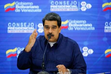 Presidente da Venezuela, Nicolás Maduro, durante reunião em Caracas