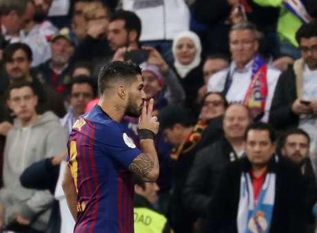 Luis Suárez comemora mais um gol sobre o Real Madrid