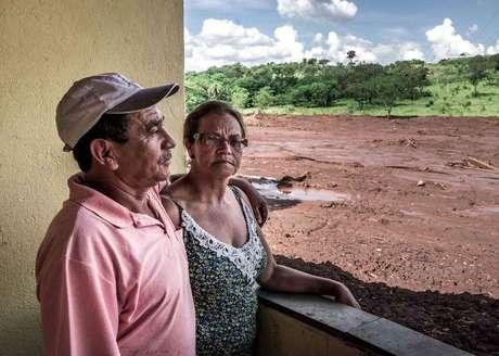 Telmilia e o marido tiveram a casa destruída pela lama
