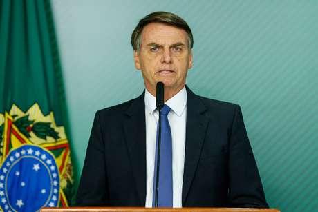 Bolsonaro em declaração no Palácio do Planalto 25/1/2019 Isac Nobrega/Presidência da República/REUTERS