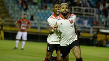 Gabigol comemora bom momento pelo Flamengo (Foto: Alexandre Vidal/Flamengo)