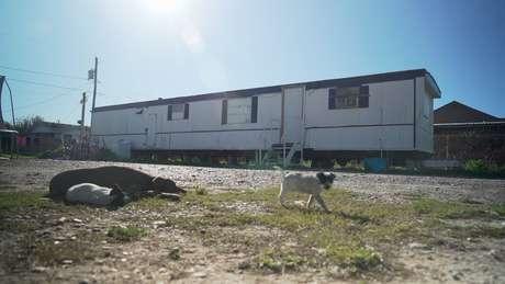 As casas-trailer são comuns na cidade de Escobares